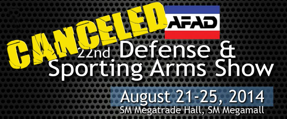 22nd Defense & Sporting Arms Show Canceled