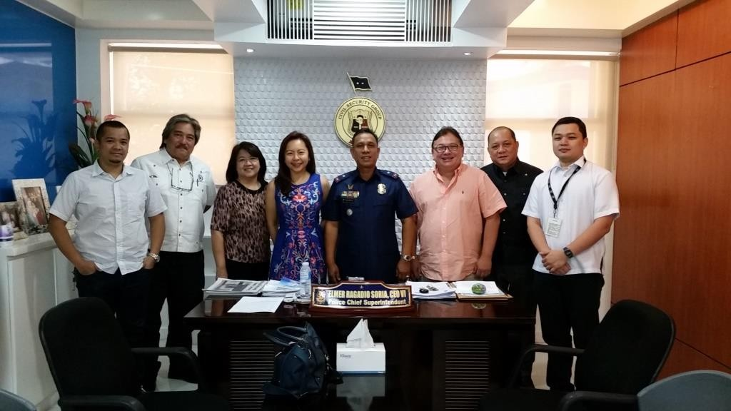 In photo left to right: Corp. Secretary JM Reyes, Bugsy Banaag, Treasurer Tonette Dacanay, President Joselyn Gutierrez-Jose, P/Chief Supt. Elmer Soria, Dir. Willi Hahn, Committee Head Atty. Hector Rodriguez Jr. & Vice President Dino Rodriguez